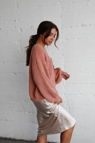 Katrina Knit Button Up Sweater