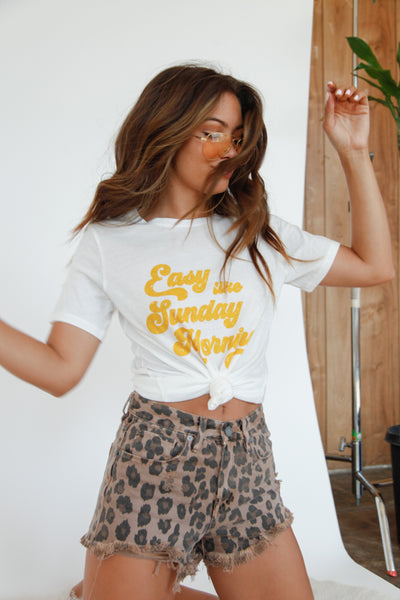 Native Daughters Easy Like Sunday Morning Tee