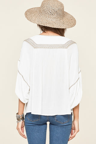 Amuse Society Elliot Woven Top