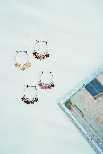 White Lies Celestial Hoops