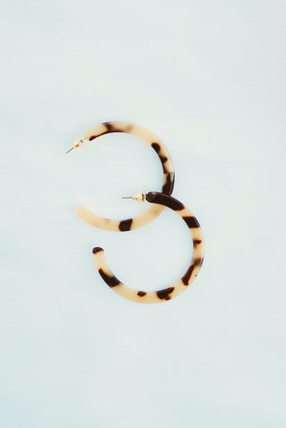 Ella Tortoise Hoop Earrings