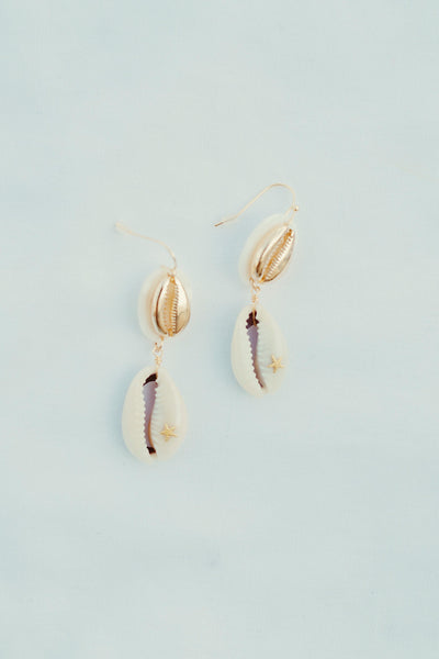 Stay Cool Conch Shell Earrings