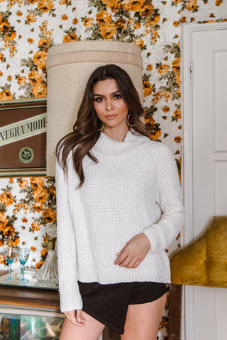 Bridget Chenille Turtleneck Sweater