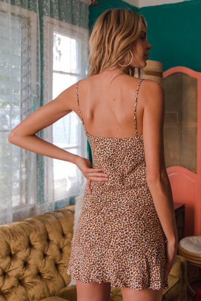 Native Daughters Luna Leopard Mini Dress