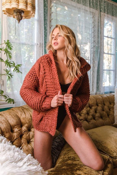 Native Daughters Just Peachy Knit Sweater