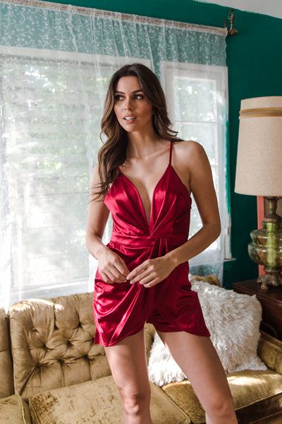 Light Up Satin Romper