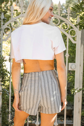Native Daughters Striped Wrap Skort