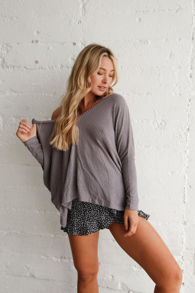 Simple Days Waffle Knit Top