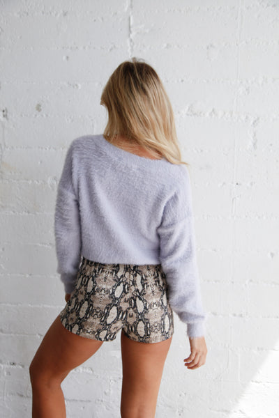 Chloe Fuzzy Crop Sweater