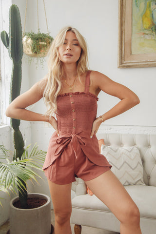 Mia Button Up Romper