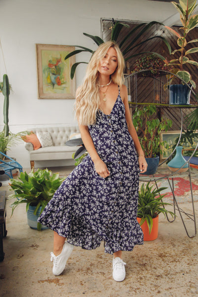 Summer Kisses Floral Maxi Dress