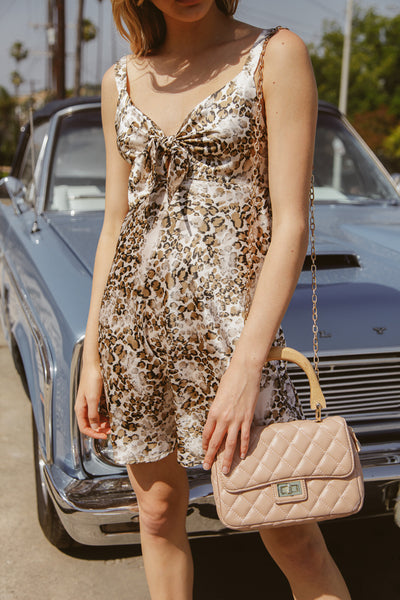 Amelia Leopard Tie Front Dress