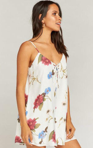Mumu Rebel Romper In Florence Floral Silky Dots