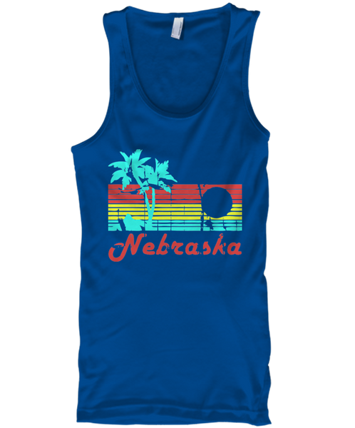 Nebraska The Aloha State Men's Tank