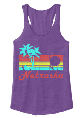 Nebraska The Aloha State Women's Racerback Tank