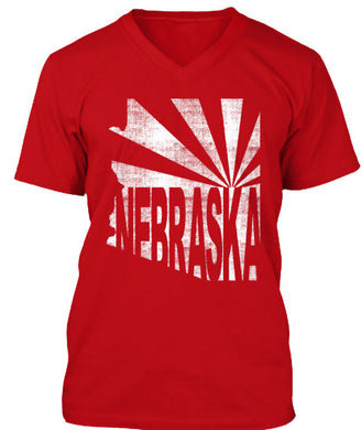 Arizona for Nebraska V-Neck Men's Medium
