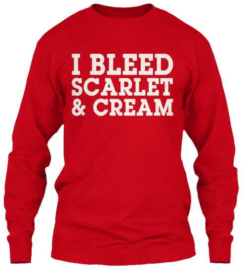 I Bleed Scarlet & Cream Long Sleeve