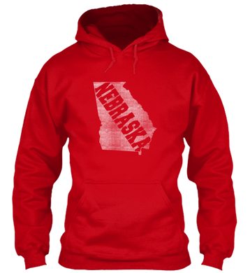 Georgia for Nebraska Hoodie