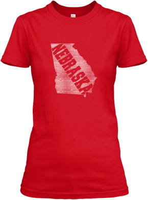 Georgia for Nebraska Women's T
