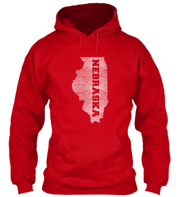Illinois for Nebraska Hoodie
