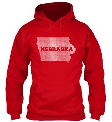 Iowa for Nebraska Hoodie
