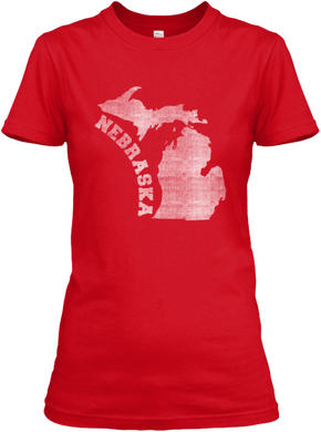 Michigan for Nebraska Women's T