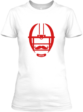 The White Collection - Mustache Women's T