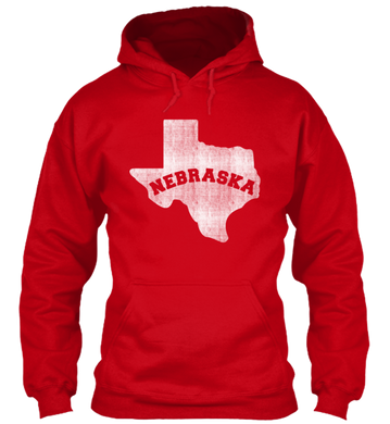 Texas for Nebraska Hoodie