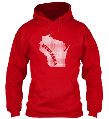 Wisconsin for Nebraska Hoodie