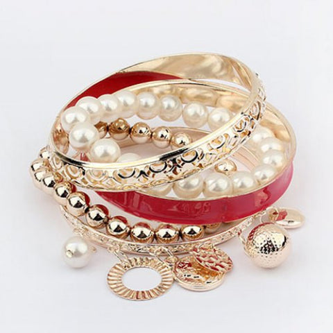 Bracelets e Shape Pendants 6 Pcs