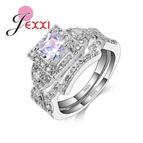 925 Sterling Silver Jewelry Wedding Rings