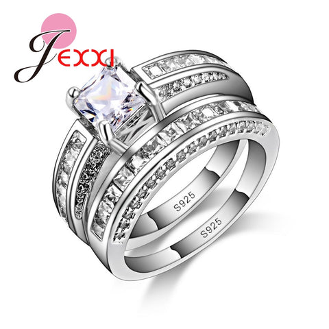 925 Sterling Silver Double Rings Finger
