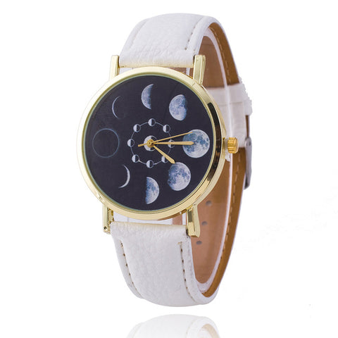 Analog Leather Quartz Watch