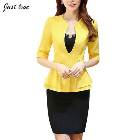 Blazer & Skirt Office Coat