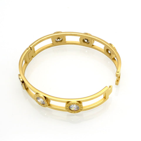 Crystal Cuff Bracelet Gold Color