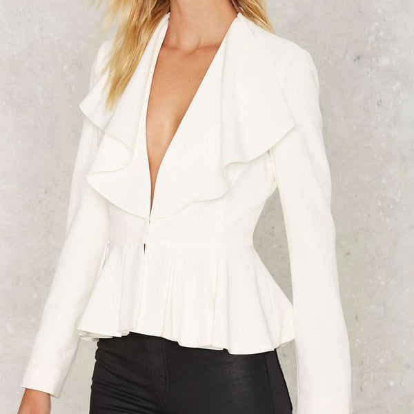 Women Blazer Basic Long Sleeve