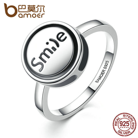 "925 Sterling Silver Ring ""Smile"""