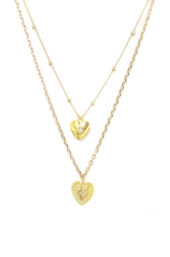 Layered Heart Necklace Set