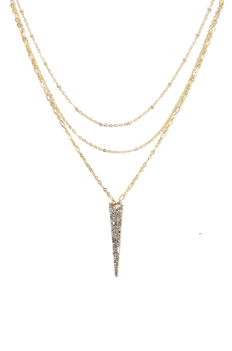 Layered Crystal Spike Necklace