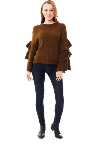 Umber Ruffle Sweater