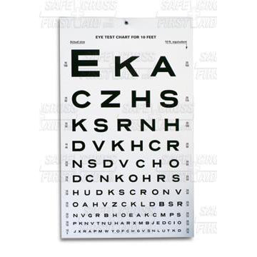 Eye Test Chart-FAST Rescue Safety Supplies & Training, Ontario