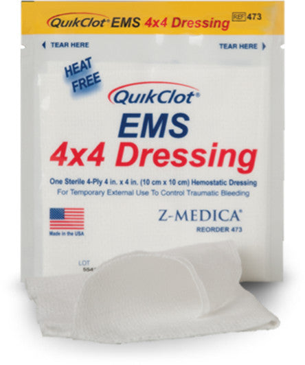QuikClot EMS Dressing - FAST Rescue Safety Supplies & Training