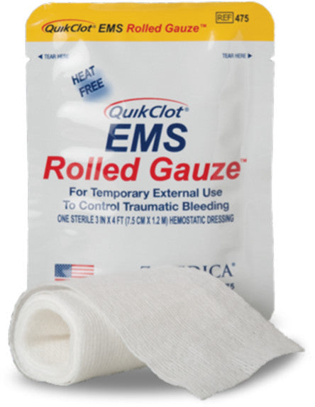 QuikClot EMS Gauze - FAST Rescue Safety Supplies & Training