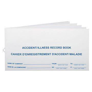 Accident Record Book-FAST Rescue Safety Supplies & Training, Ontario
