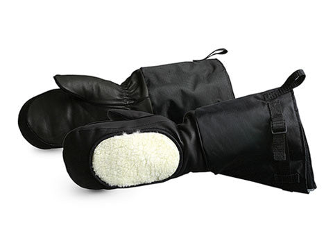 Calfskin Extreme Cold Weather Mitt Deluxe / Removeable Fleece Liner-FAST Rescue Safety Supplies & Training, Ontario