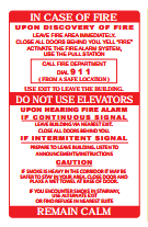 Two Stage Fire Alarm Signs-FAST Rescue Safety Supplies & Training, Ontario