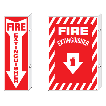 Perpendicular Fire Extinguisher Signs-FAST Rescue Safety Supplies & Training, Ontario