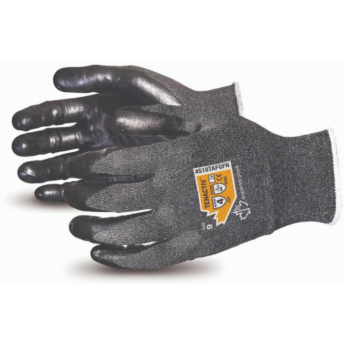 TenActiv™ Level-4 Cut-Resistant Knit with Foam Nitrile Palms (12 pairs)