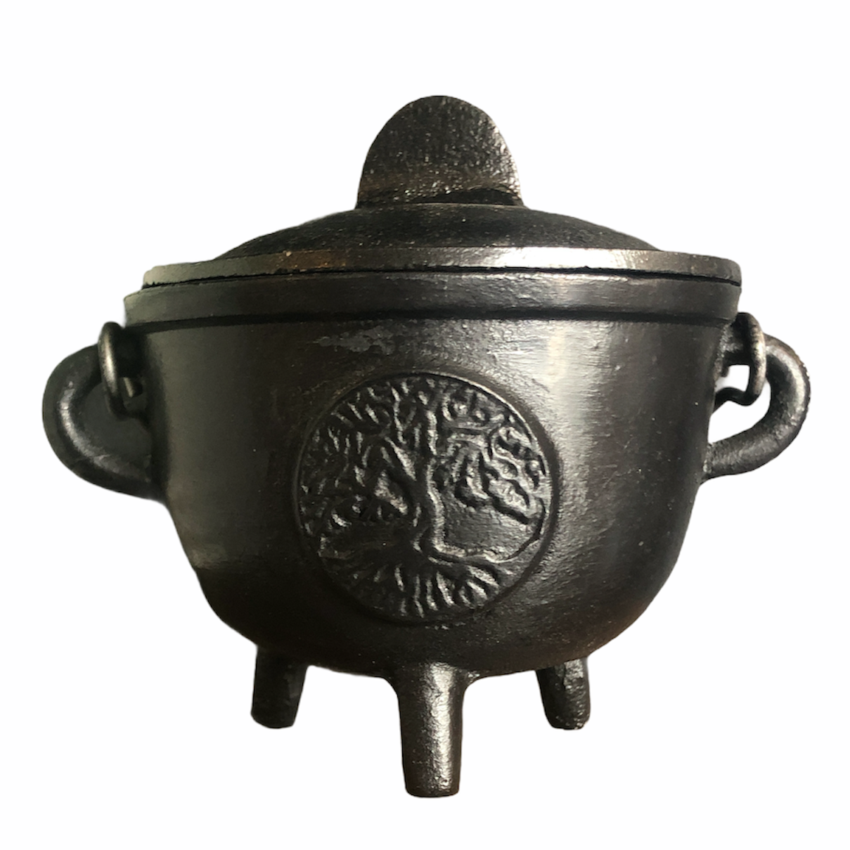 {Tree of Life} Cast Iron Smudge Pot
