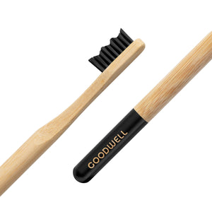 Bamboo Toothbrush {charcoal infused bristles}